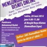 seminar mengungkap rahasia bisnis online ramadhan klaten juni 2014 kursus komputer LKP KEMBAR - promo