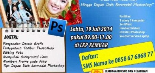 kursus desain grafis - workshop photoshop - pelatihan photoshop - pelatihan komputer - kursus komputer
