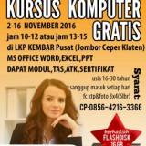 KURSUS KOMPUTER GRATIS LKP KEMBAR KLATEN (2)